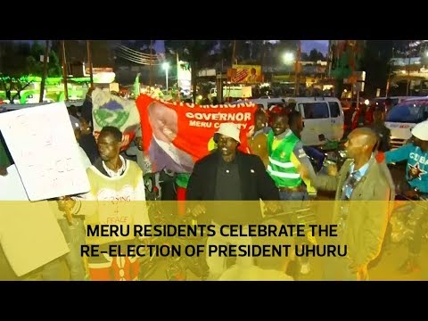 Meru residents celebrate the re-election of President Uhuru