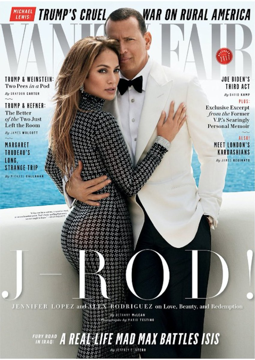 .@JLo, in Ralph Lauren Fall 2017 Collection, featured with @ARod on the latest cover of Vanity Fair. #RLFall2017 https://t.co/Yb1yChUtph