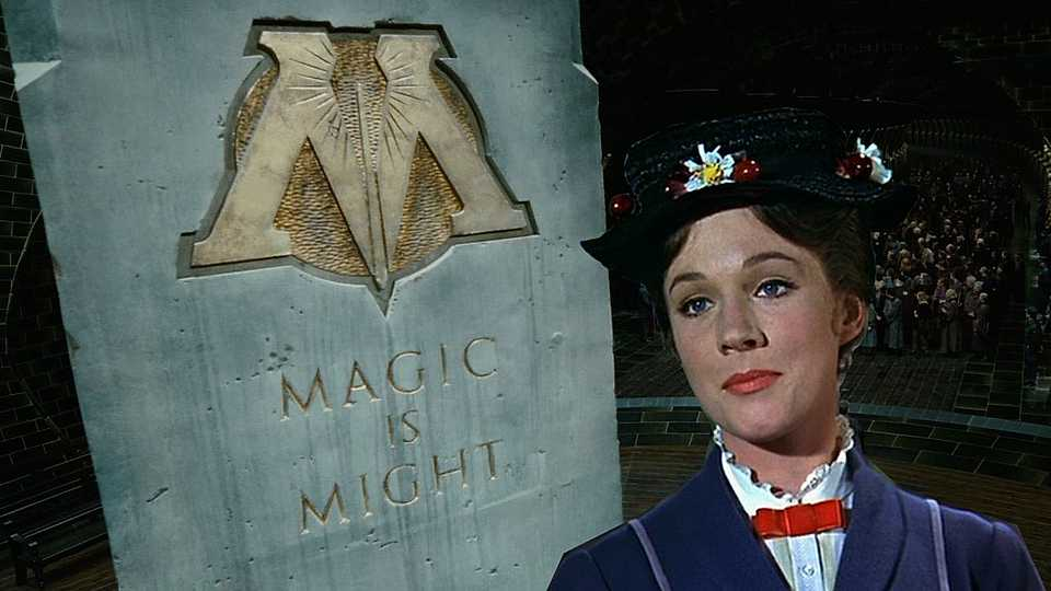 Harry Potter fans, Mary Poppins apparently worked for The Ministry of Magic!!!