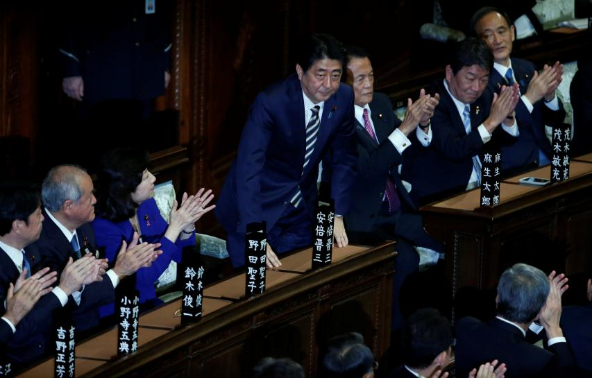 Japan's Abe re-elected prime minister after big election win