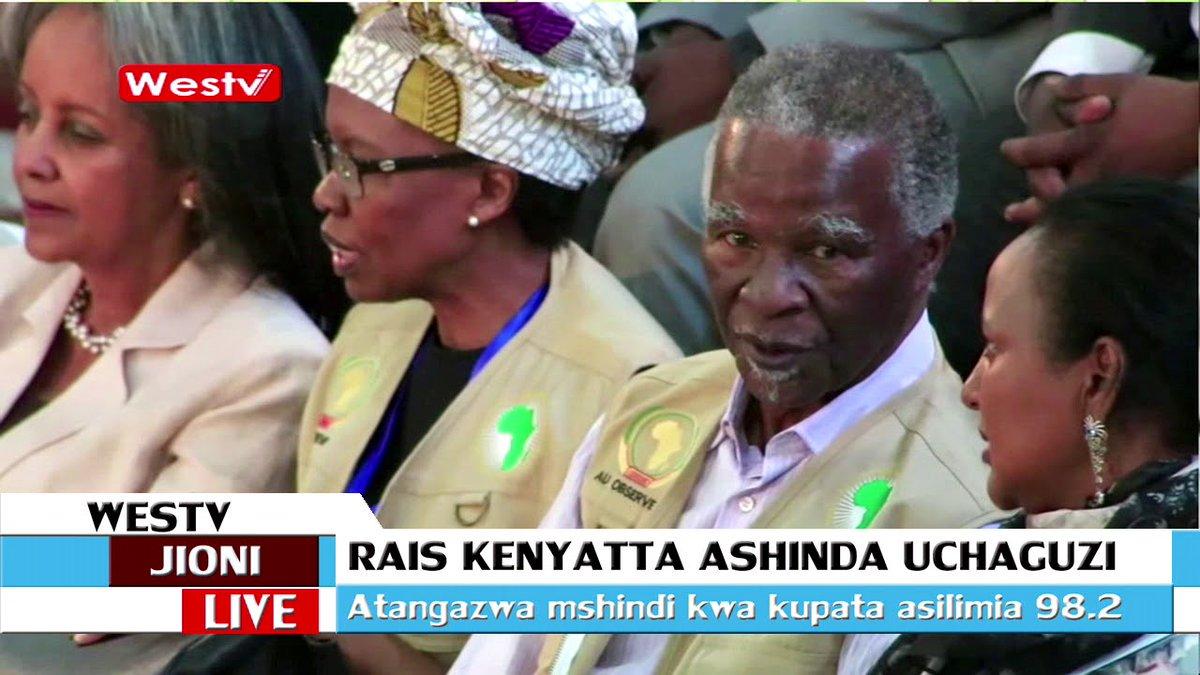 Uhuru kenyatta atangazwa rais mteule