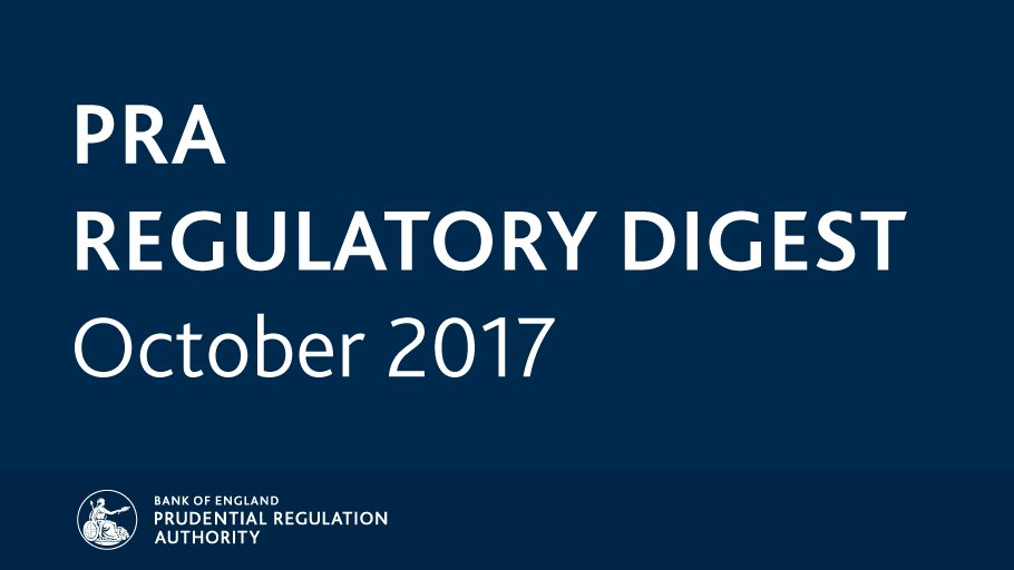 Catch up on October key regulatory news and publications with the #PRARegulatoryDigest: https://t.co/3zwa5MCHK4 https://t.co/nvfzypL51I