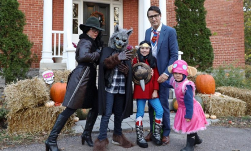 .@JustinTrudeau's family took Halloween seriously this year!