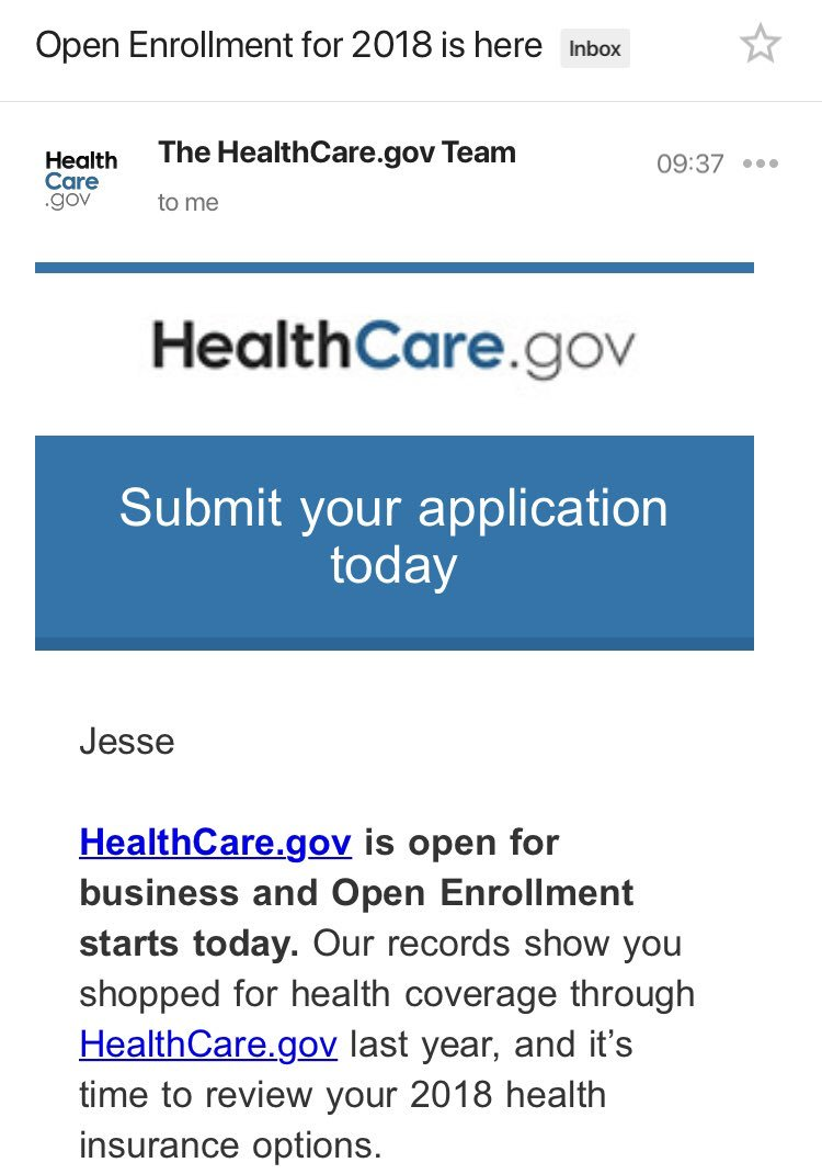 encouraging to at least see this in my inbox!   go to https://t.co/qpetYBkZzi today and #GetCovered. https://t.co/3BywIQwyRs