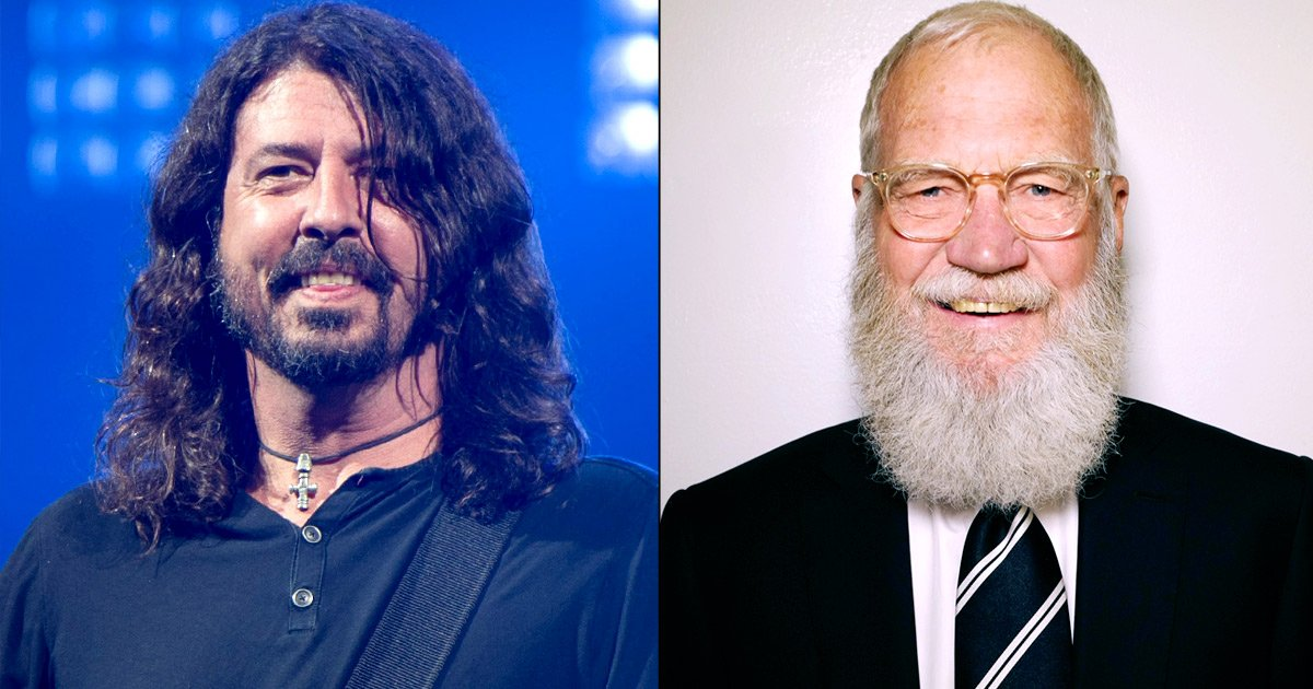 Dave Grohl dressed up as David Letterman for Halloween, and his costume is spot-on: