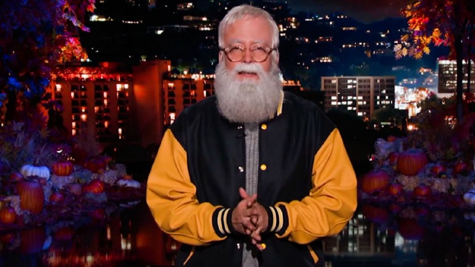 Dave Grohl dresses as David Letterman for Halloween on @JimmyKimmelLive
