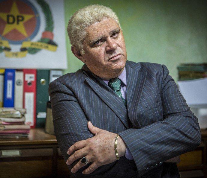 """Domingos Montagner. Foto do site da RD1 que mostra Ivan Gomes, o Batoré, faz revelações sobre a morte de Domingos Montagner no """"Gugu"""""""