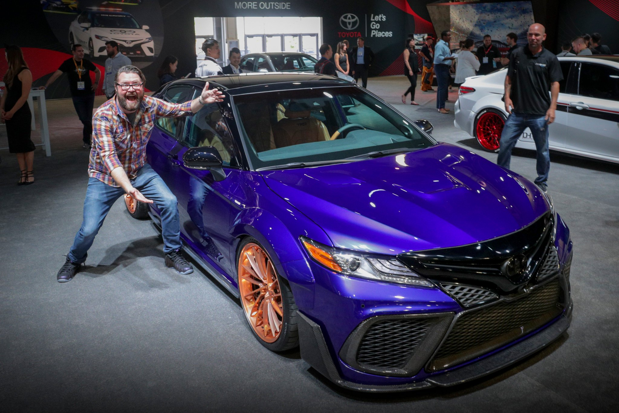 With state-of-the-art 3D printing, @RutledgeWood redefined style with his blurple #SEMA2017 #Camry build. https://t.co/ITghhFk6RN