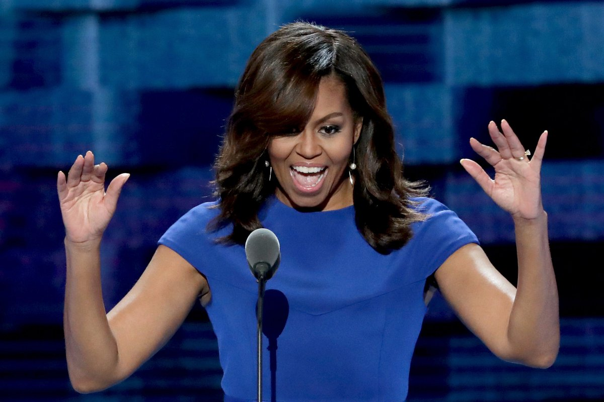 Michelle Obama made a sly dig at Donald Trump