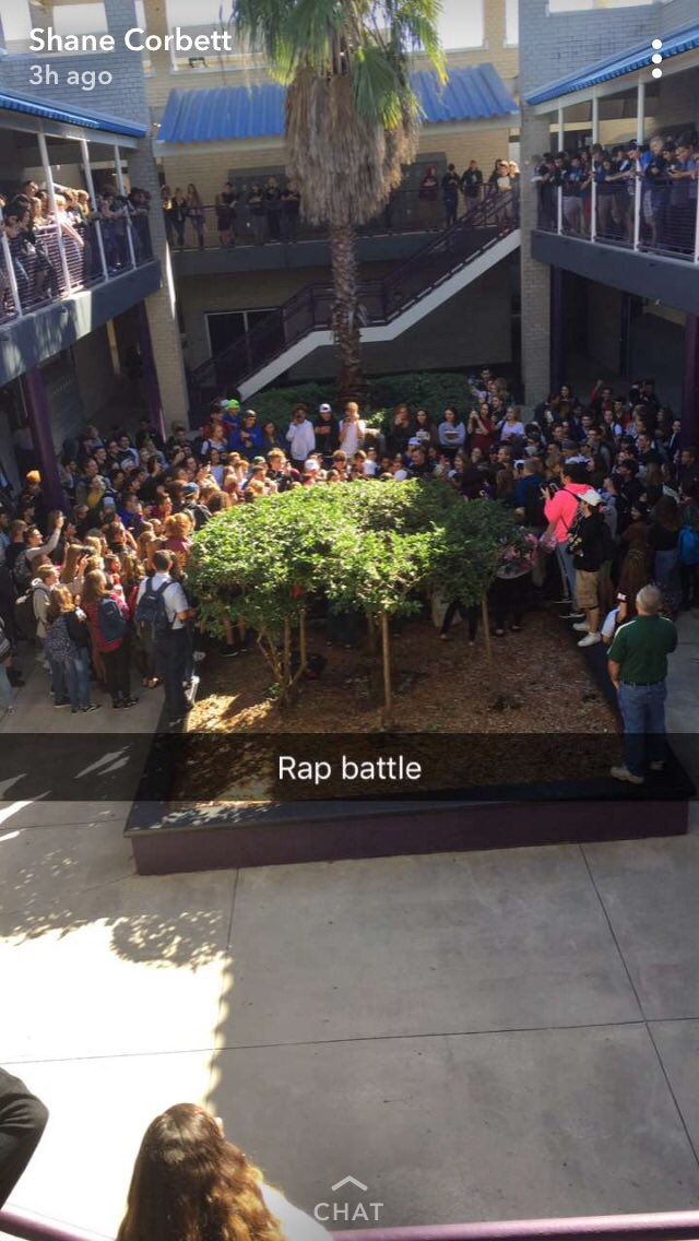 When the whole school shows up for a rap battle that's how you know we the littest school out there���� https://t.co/ciTrAwCp9p