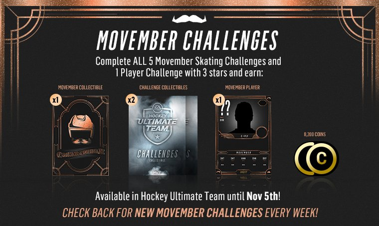 Complete all of the #Movember Skating HUT Challenges to earn a Movember Collectible and more! https://t.co/LBjIG1BgBy
