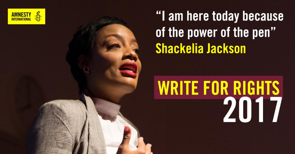 Your words are powerful. Take part in #WriteForRights and send a message of hope today. https://t.co/R9K5DinzGg https://t.co/dymRE4GjnR