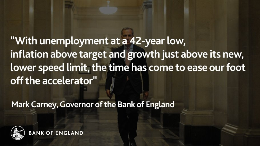Mark Carney at the #InflationReport press conference. Watch live: https://t.co/ofjROBZ0GV https://t.co/xuHJLEdMWJ