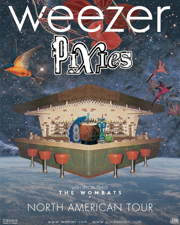 ANNOUNCING... Pixies and @Weezer join together for a huge North American Tour, Summer 2018. https://t.co/T9DYyA91Xl