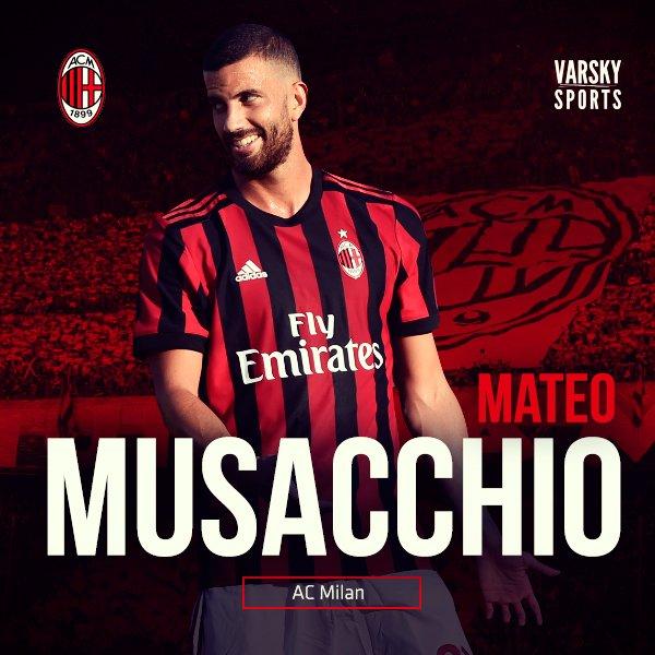 Camiseta AC Milan MATEO MUSACCHIO