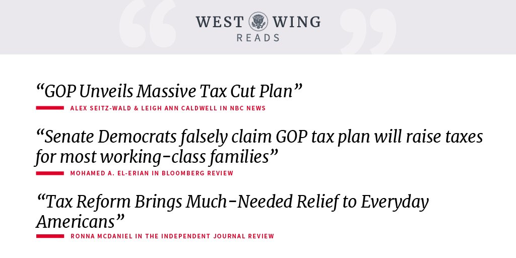 Check out what the West Wing staff is reading today: https://t.co/sh9P2hfUWY https://t.co/L1b8TW2qza