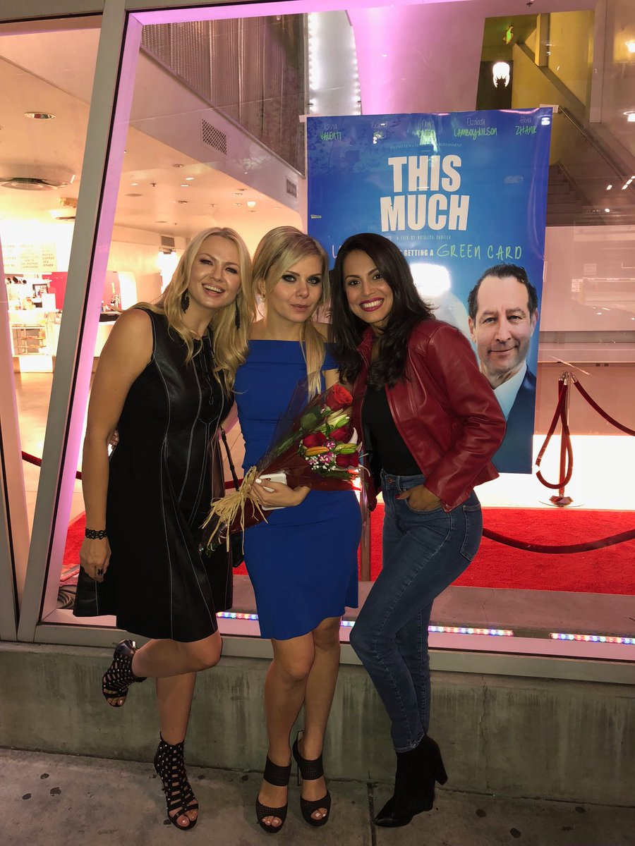 So much fun tonight at #ThisMuch film premiere with the star and my girl 🙌🏻🙌🏻