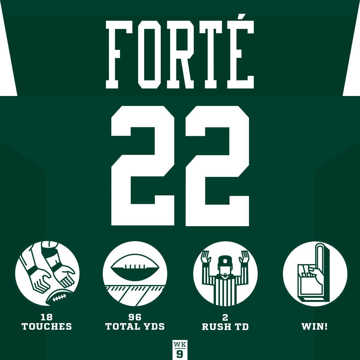 A two TD night for @MattForte22! #HaveADay#BUFvsNYJ #Jets
