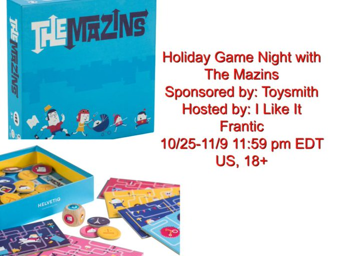 Toysmith The Mazins Giveaway