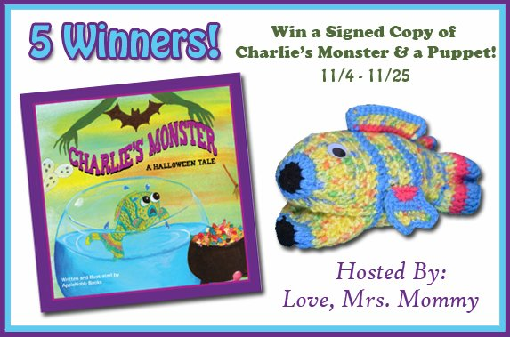 Win a Signed Copy of Charlie's Monster & A Puppet! 5 Winner Giveaway!