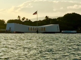 USS Arizona memorial, moving tribute to American valor and sacrifice. https://t.co/Es4POUxohs