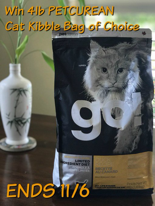 PETCUREAN CAT KIBBLE 4 LB BAG OF CHOICE-1-US-Ends 11/6