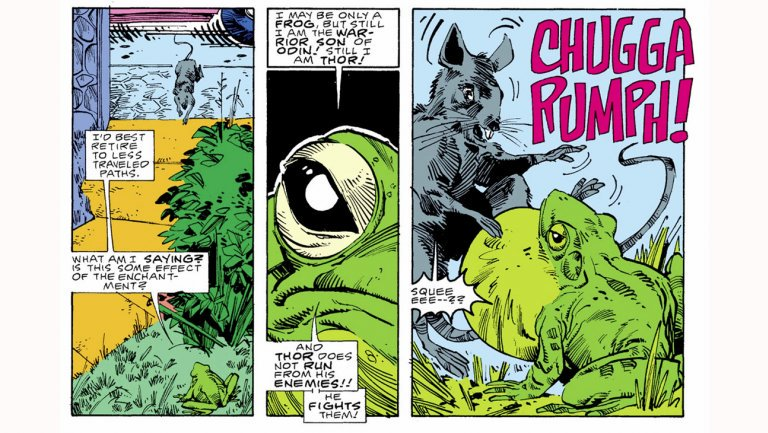 Did you know? Thor was actually once a frog in the Marvel comics