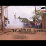 Police use tear gas to disperse protesters in Nairobi