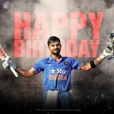 Wish u a Happy birthday virat Kohli je