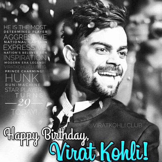 Happy birthday king VIRAT KOHLI