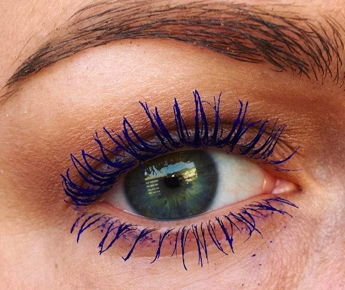 Blue Mascara Is Pinterest's Biggest New Beauty Trend