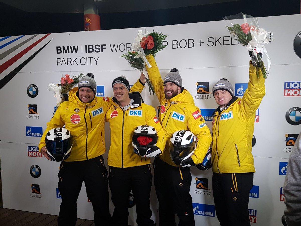 Bobteam Johannes Lochner 🇩🇪 🏅gewinnt zweiten #BMW IBSF Viererbob #Worldcup in Park City 🇺🇸 #BSDteam #BSDsports https://t.co/ADAeomG4oF