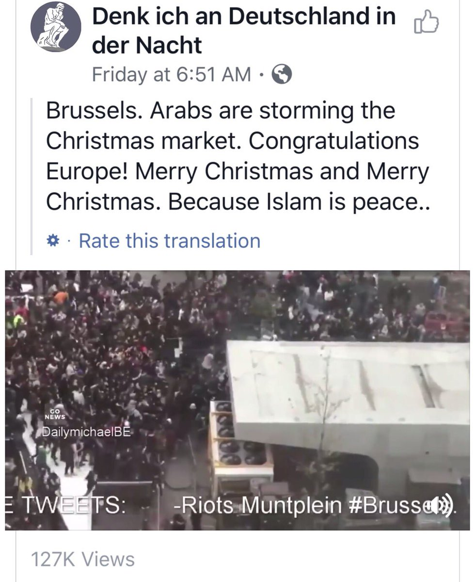 Riots at christmas market in brussels. arabs storm the area. this is ...