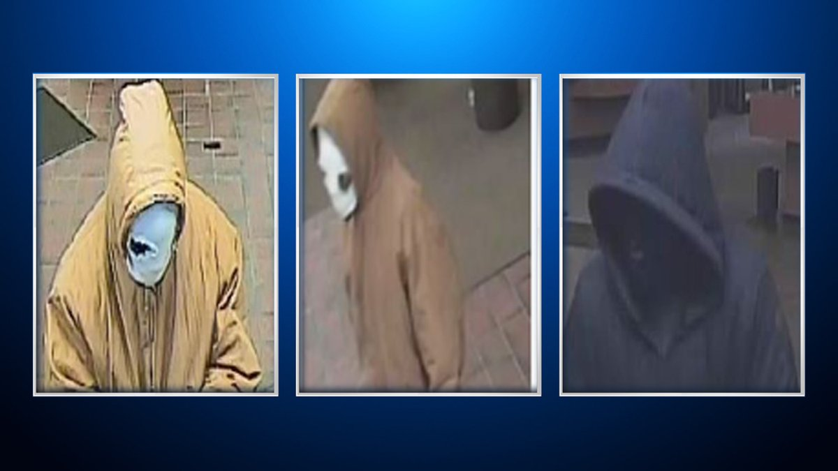 FBI Searches For Bank Robbers Wearing Hoodies, Masks
