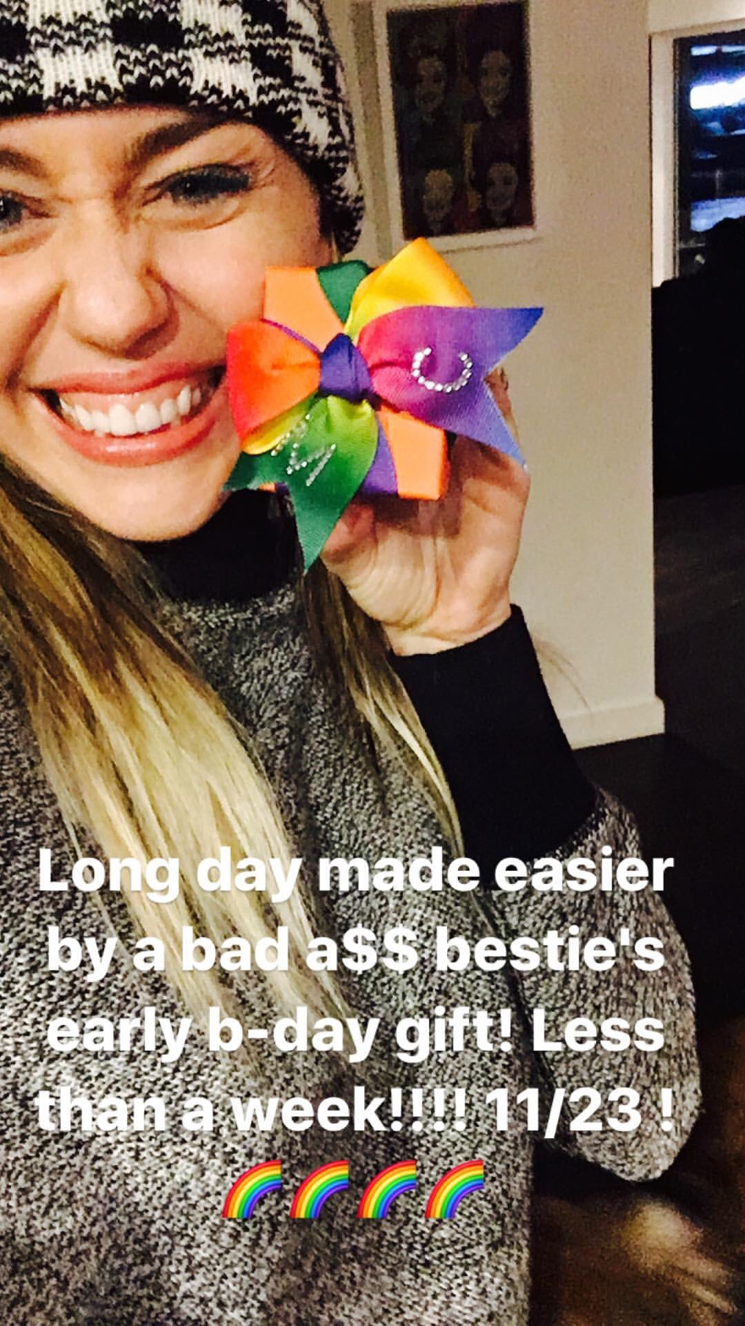 Long day made easier by a bad a$$ besties b-day gift! Less than a week!!! #1123 �� �� ���� https://t.co/Npk0mSK6wr
