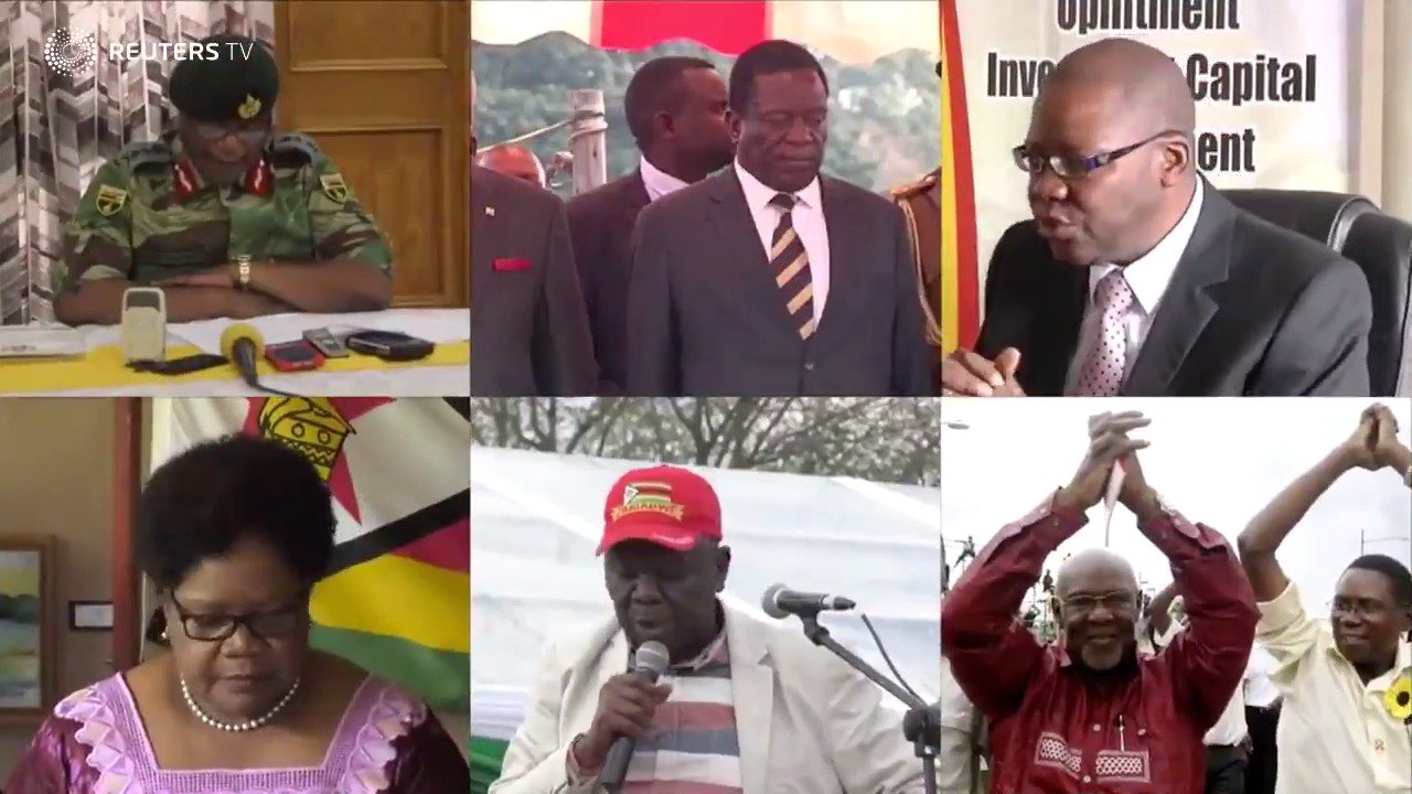 WATCH: The likely players in a post-Mugabe Zimbabwean government https://t.co/J8A43DAYol @ReutersTV https://t.co/4bhKPW4MS1