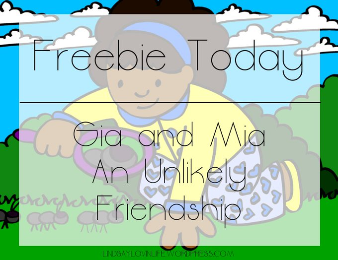 Freebie today- Gia and Mia: An Unlikely Friendship Freebiefriday Freekidsbook Friendship