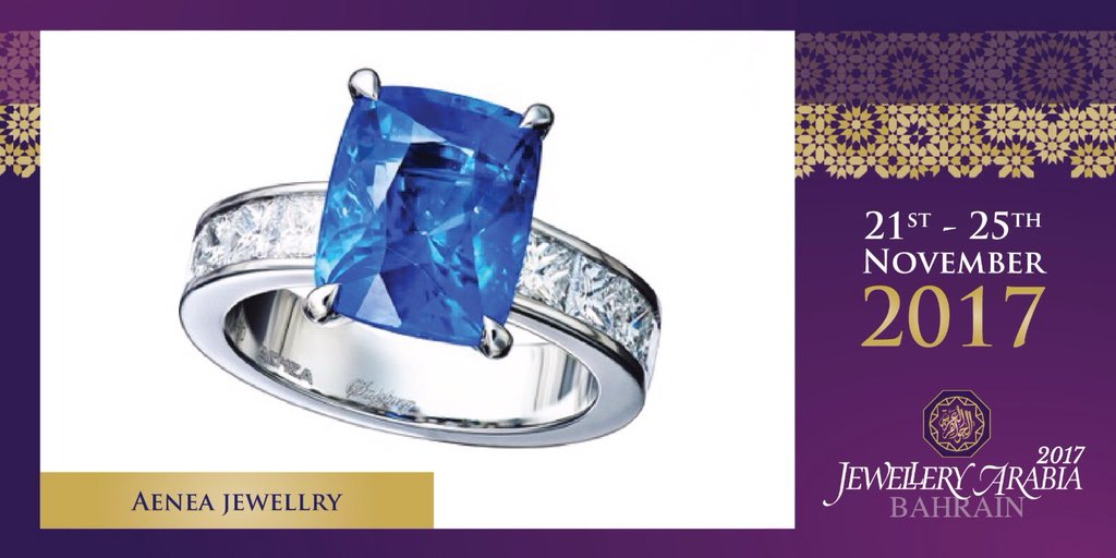 test Twitter Media - What beautiful design from Aenea Jewellery with this 7.03Cts Ceylon Sapphire and a ring of White Diamonds 💍 #aeneajewellery #jewelleryarabia2017 #elegant #beautiful #classy https://t.co/A8byuVfGvy