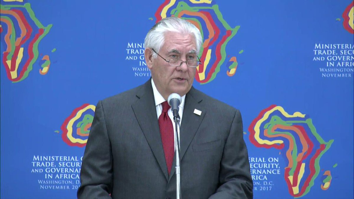 Secretary Tillerson Economic growth and lasting prosperity can only thrive in environments with good governance.