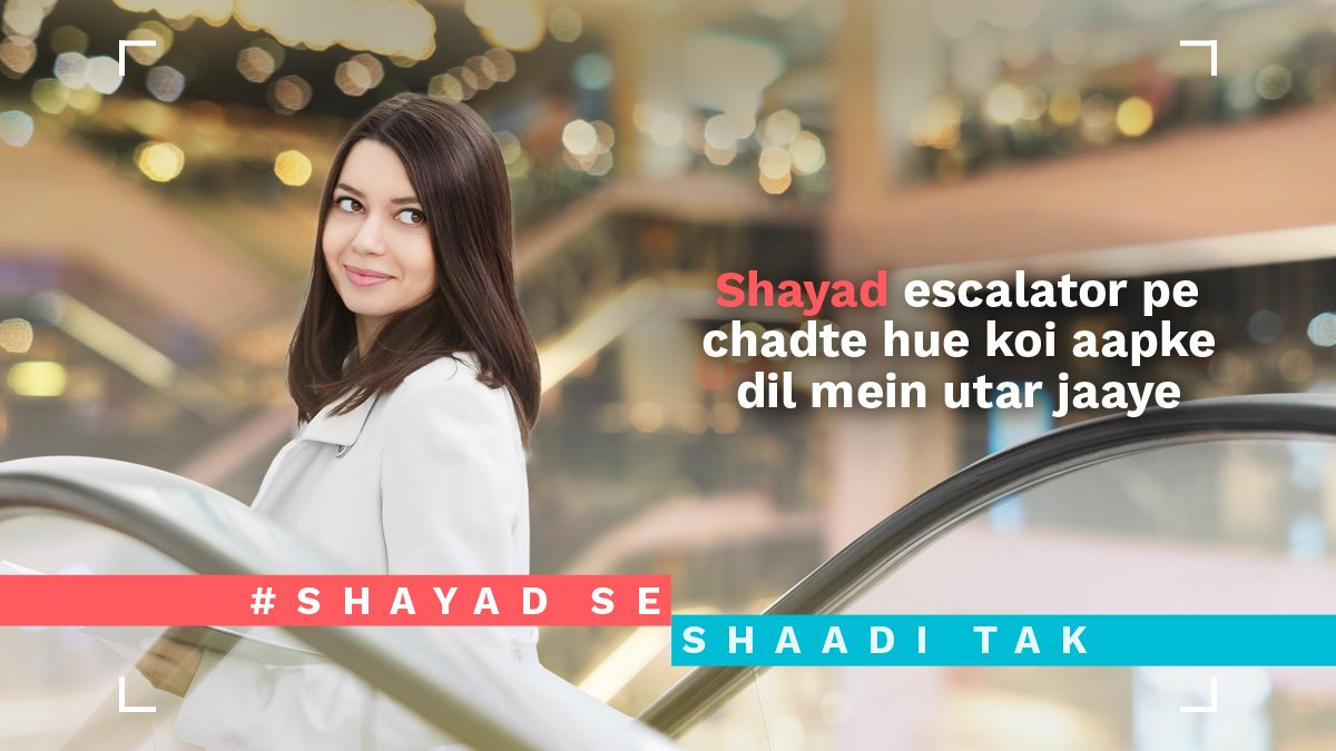 test Twitter Media - Escalators can also cause accidents.  Don't let an accident stop you from meeting your life partner. #ShayadSeShaadiTak https://t.co/I8Af68AD9U
