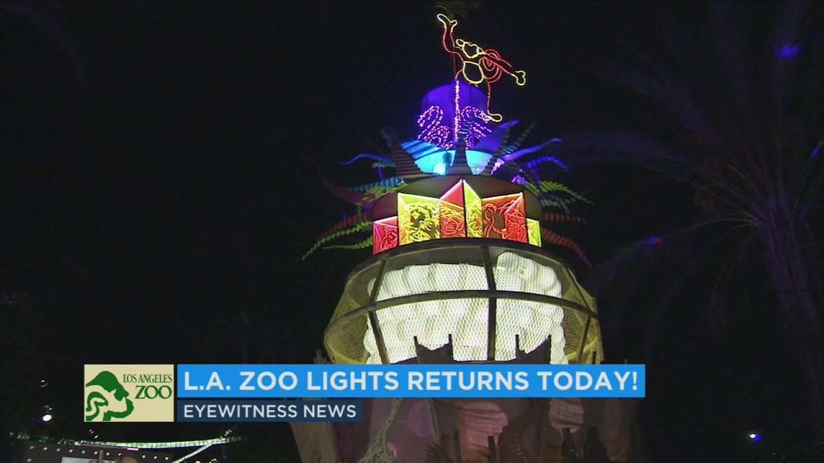 Los Angeles Zoo's holiday 'Zoo Lights' start twinkling Friday