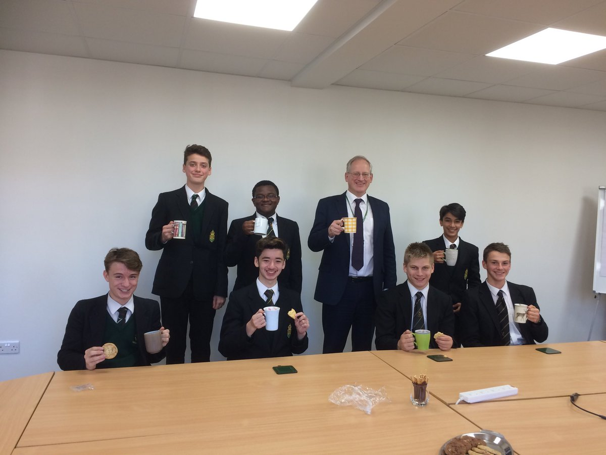 test Twitter Media - The head shares a well-earned delicious mug of hot-chocolate with seven hard-working unpretentious heroes in Yr10&11 for #HotChocFri today. https://t.co/fnuEGGP0fB