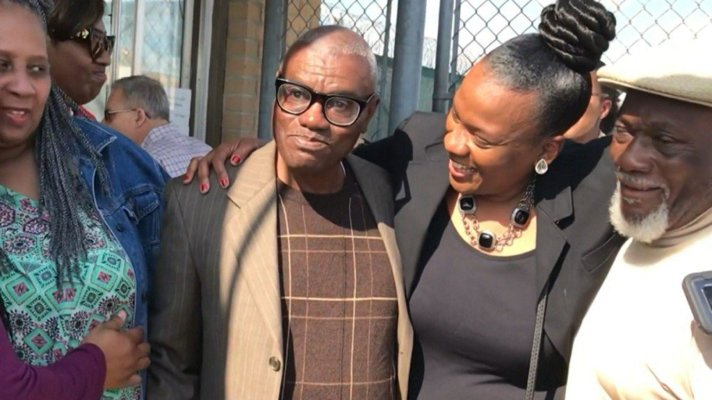 Man freed 45 years after being wrongly convicted of rape