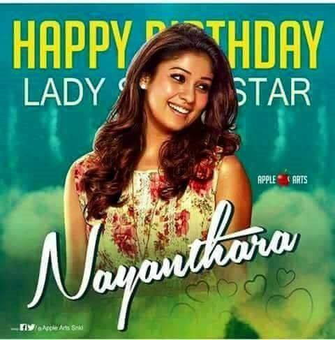 sir happy birthday wishes to Nayanthara madam