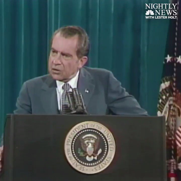 """I'm not a crook,"" Pres. Nixon infamously declared 44 years ago today."