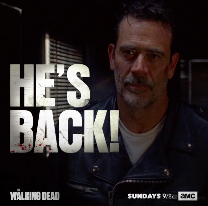 Your favorite villain is back. New episode this Sunday, 11/19, at 9/8C. #TWD.