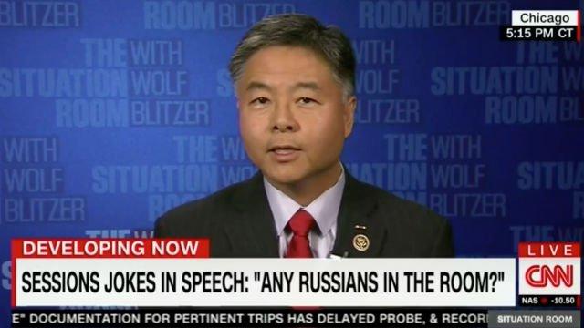 Dem Rep. Ted Lieu Slams Sessions for Russia Jokes: He 'Still Doesn't Get It' https://t.co/xxwxlUxkMS (VIDEO) https://t.co/OCo0lk60Sx