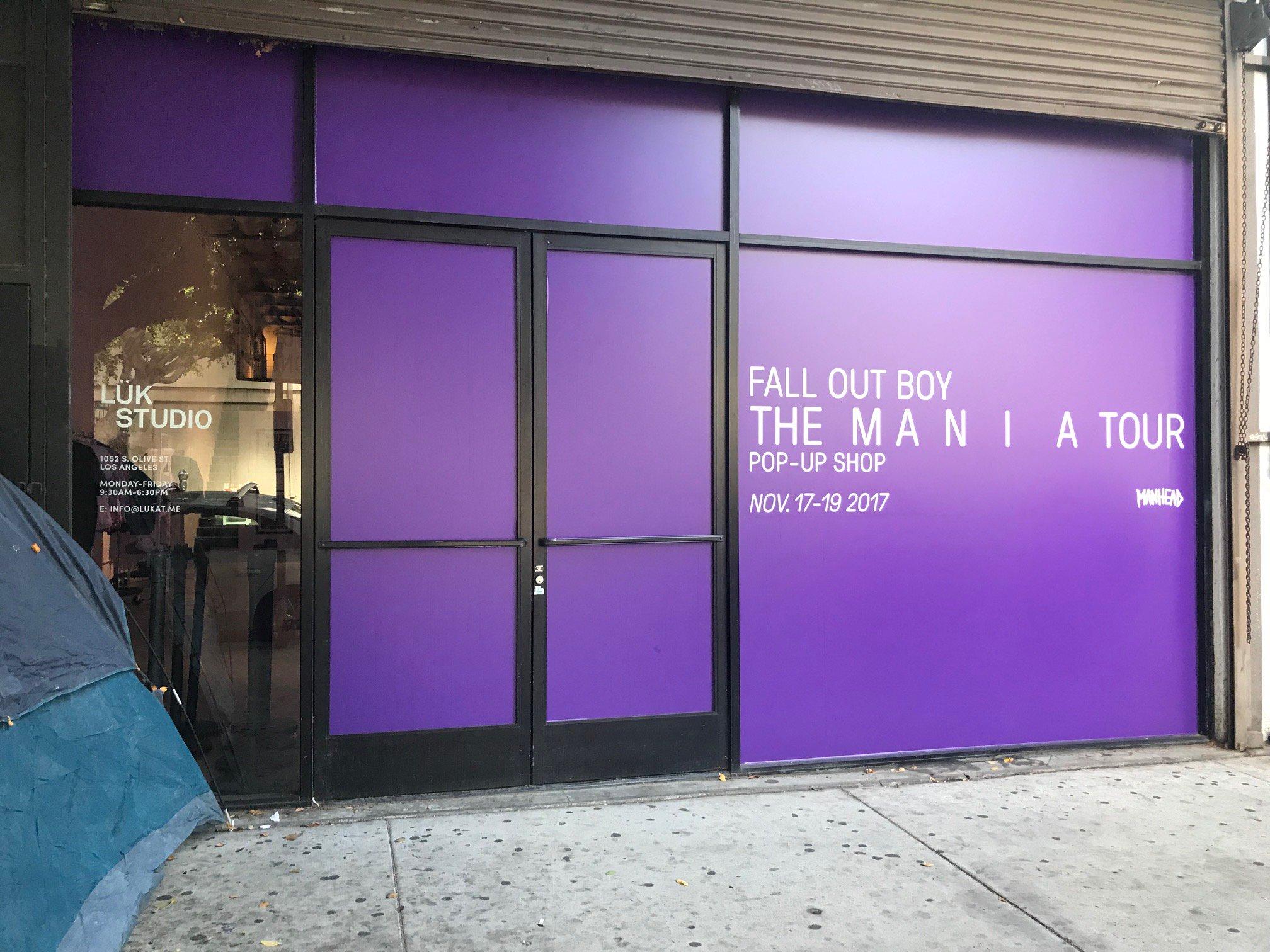 LA pop up shop is open for business! Come on down and get your M A  N   I    A merch https://t.co/g18ZwMgXUd