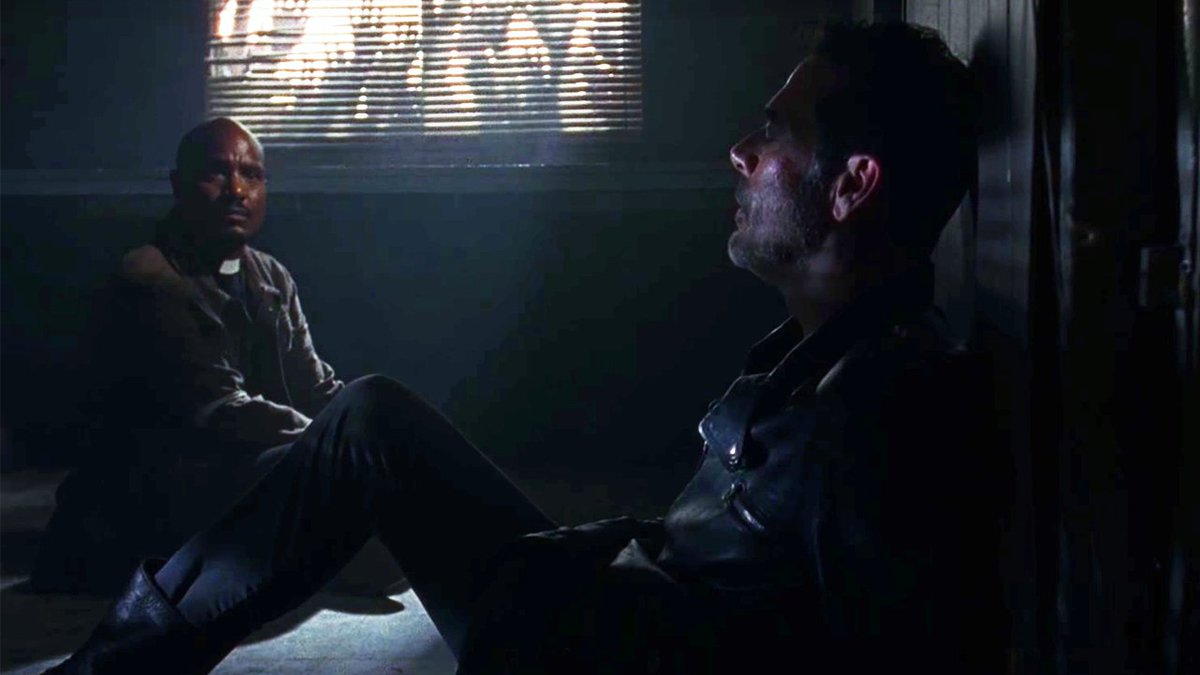Watch Father Gabriel and Negan walking dead season 8