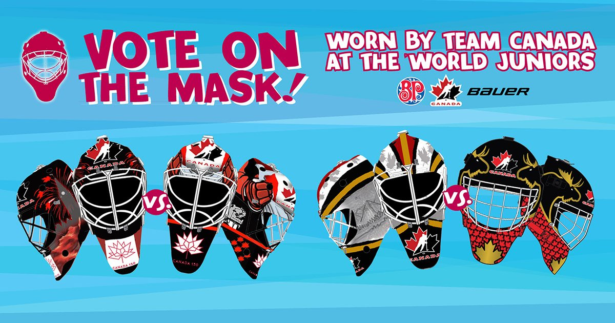test Twitter Media - Who designed it best? You decide which two masks will be worn by @HC_Men at @HC_WJC. Voting ends Sunday night. #WorldJuniors #DesignAMask  Vote on Facebook here: https://t.co/mGGWgesYLq https://t.co/AaH2nQYpXi